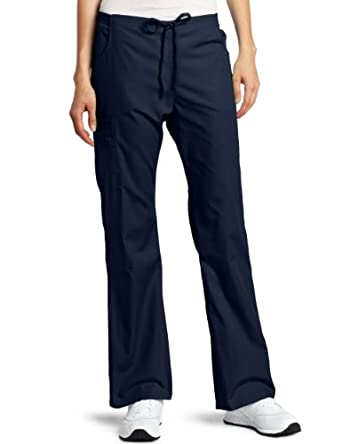Dickies Scrubs Women's Back Elastic Cargo Pant, Navy, 5X-Large