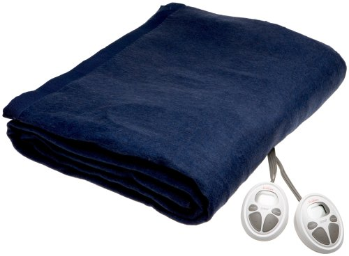 Sunbeam Imperial Nights ComfortSet Digital Controller Heated Electric Twin Blanket Marine