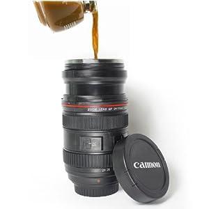 Retrattile ZOOMable Camera Lens Boccale tazza di caffè (Canon EF 24-70mm f/4L IS USM Lens design)