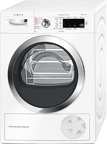 Bosch Serie 8 WTW855R8IT Libera installazione Caricamento frontale 8kg A++ Bianco asciugatrice