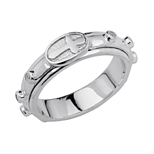 925-Sterling-Silver-Rhodium-Plated-Rosary-Spinning-Prayer-Ring