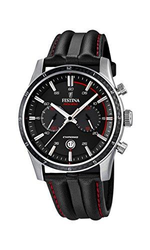 Festina F16874/4 - Reloj de pulsera hombre, Cuero, color Negro