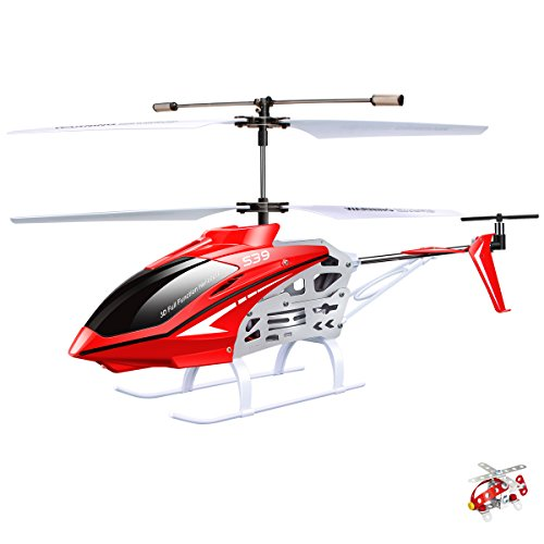 Original Syma S39 RC Helicopter with GYRO Toy Remote Control Helicopters 2.4G 3CH-Red (Syma Helicopter Outdoor compare prices)