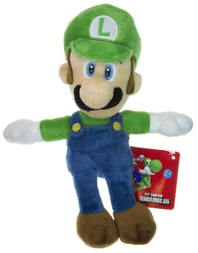 Super Mario Brothers, Nintendo Luigi 8.25 Plush - New Super Mario Bros Wii Plush Series