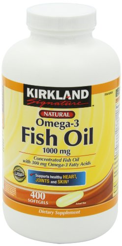 Kirkland signature natural fish oil concentrate with omega for Omega 3 fatty acid fish