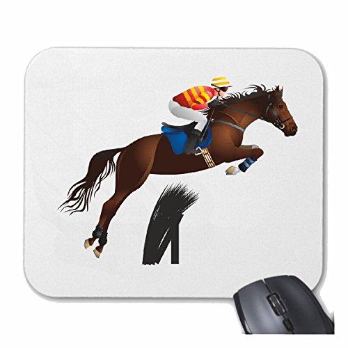 mousepad mauspad pferde springen silhouette pferde reiten reiter pferdesport pferdekopf. Black Bedroom Furniture Sets. Home Design Ideas