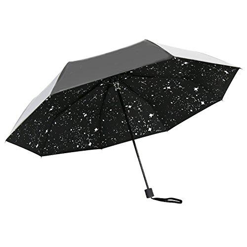 イカサ 晴雨兼用 完全遮光 折り畳み傘