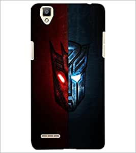 PrintDhaba Dual Mask D-3333 Back Case Cover for OPPO F1 (Multi-Coloured)