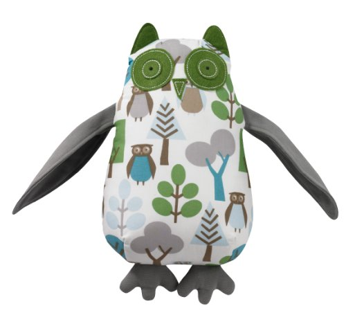 Dwellstudio Stuffed Animal Plush Toy, Green Owl