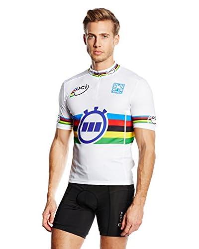 Santini Maillot Ciclismo Aa Team Mondo Crono Blanco / Multicolor