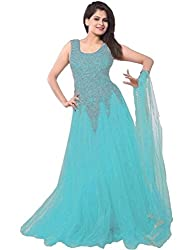 SKYUP ENTERPRISE Women's Embroidered Net Sky Gown
