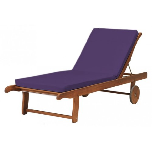 Outdoor Garden Sun Lounger Pad / Cushion in Purple, Comfortable and Lightweight. Great for Indoors and Outdoor Use, Made from High Quality Water Resistant Material.