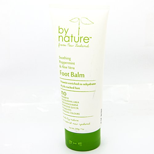 By Nature Foot Balm Soothing Peppermint And Aloe Vera