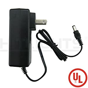 HitLights UL Listed 24 Watt Power Adapter - 110V AC to 12V DC, 2A - (LED Light Strip Transformer)