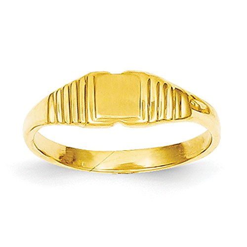 Baby-and-Children-14K-Yellow-Gold-Signet-Ring