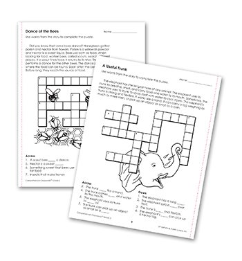 Edupress Ep-186r Comprehension Crosswords Book Gr 2