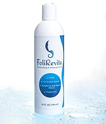 FoliRevita Anti Hair Loss/ Hair Fall Shampoo - Hair Growth Stimulating & Volumizing Regrowth Formula - Suitable for Men & Women - Light Natural Scent - Gentle on Scalp - Made In The USA