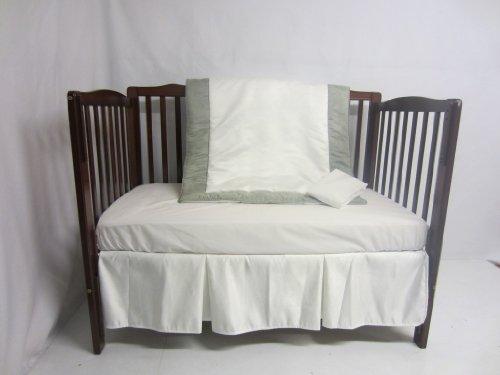 Baby Doll Zuma 4 Piece Crib Bedding Set, Seafoam/White
