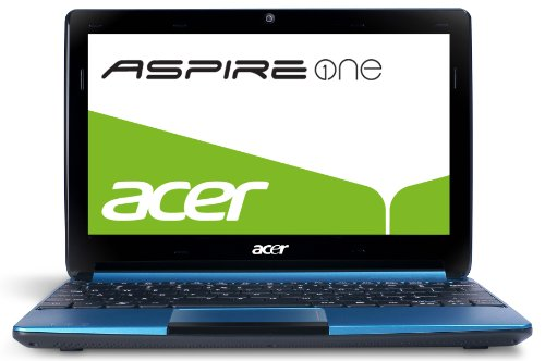 Acer Aspire One D257 25,7 cm (10,1 Zoll) Netbook (Intel Atom N570, 1,6GHz, 2GB RAM, 500GB HDD, Intel GMA 3150, Linux) blau