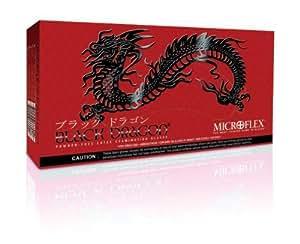 "Microflex Medium Black 9 1/2"" Black Dragon Latex"
