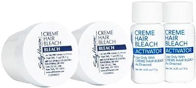 Sally Hansen Creme Hair Bleach For Face - .25 oz - 2 pk