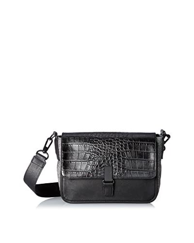 French Connection Women's She's A Lady Shoulder Bag, Black Tweed Multi