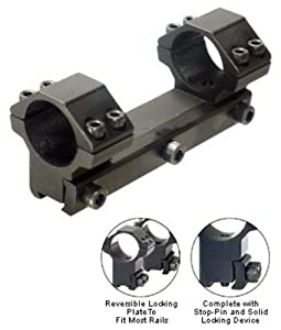 Leapers Accushot 1-Pc Mount w/1 Rings, 3/8 Dovetail