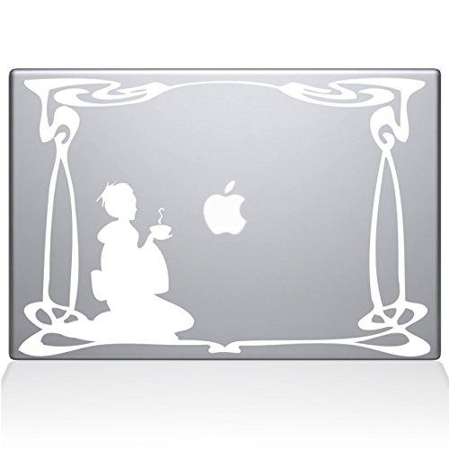 "Green Tea 13"" Macbook Pro White Decal Sticker"