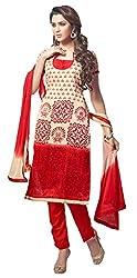The Desi Attire Women's Bhagalpuri Silk Unsticthed Dress Material (2008_Cream_36)