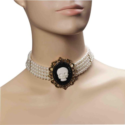 Pirate Wench Pear Cameo Choker Adult Costume Necklace