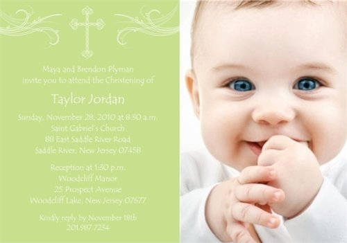 Baptism Invitations Photo front-278449