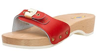 Original Dr. Scholl's Women's Original Exercise Sandal, Red Leather, 5M
