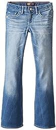 Levi\'s Big Girls\' 715 Thick Stitch Bootcut Jean, Blue Rapids, 10
