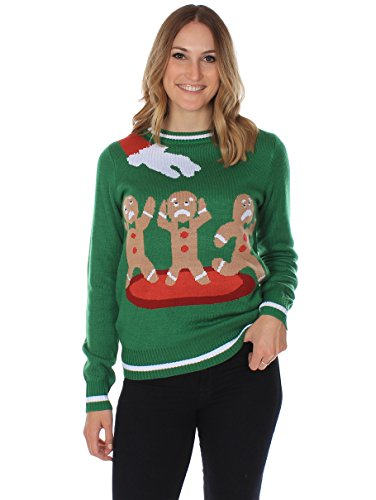 The Gingerbread Nightmare Ugly Christmas Sweater - Green