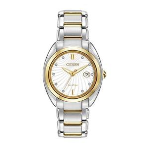 Citizen Women's EM0314-51A Celestial Analog Display Japanese Quartz Two Tone Watch