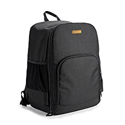 Caden Waterproof Universal Drones Backpack Case For Quadcopter Drone and All Essentials,Fit all DJI Phantom Model and Extra Accessories,GoPro Cameras and Laptop-Black