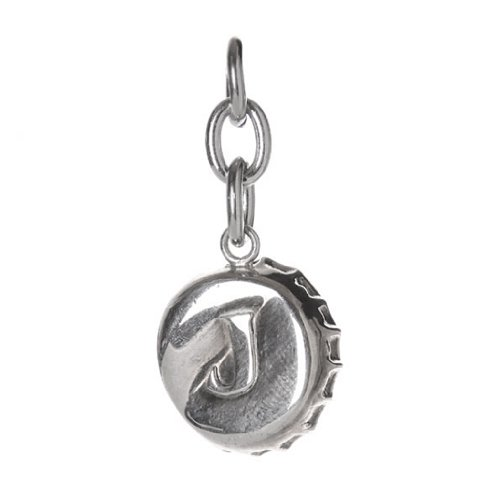 Crown Cork - Silver Stainless Steel Bottle Cap Charm Pendant For Bracelets And Necklaces - Fantasy Body Jewelry For Men And Women