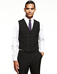 Limited Collection Slim Fit 5 Button Striped Waistcoat