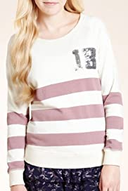 Angel Sequin Striped Sweat Top [T74-1861A-S]