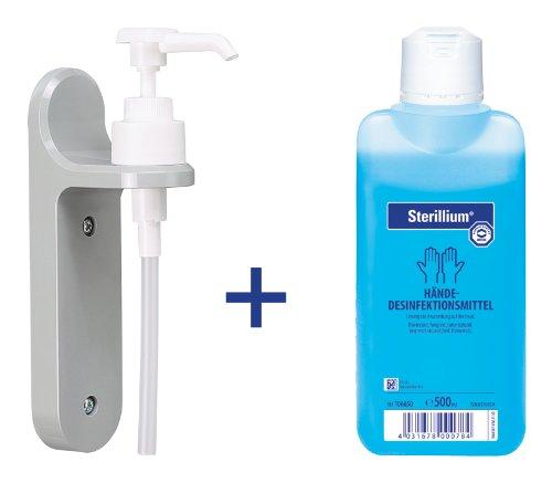 handedesinfektion-sterillium-500-ml-und-eine-wandhalterung-mit-dosierpumpe