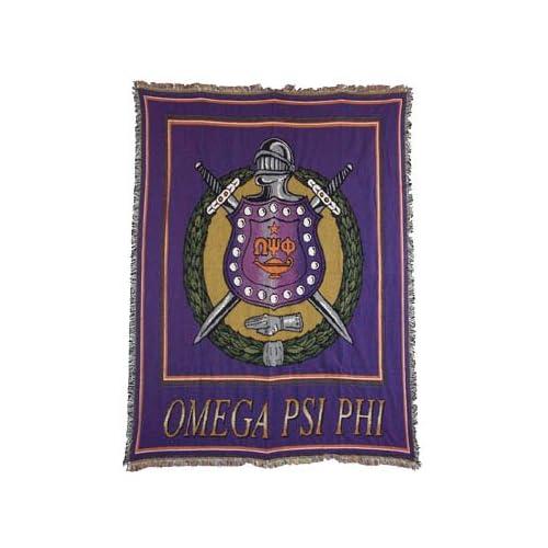 Amazon.com - Omega Psi Phi Greek Throw Blanket Rug Afghan New Gift -