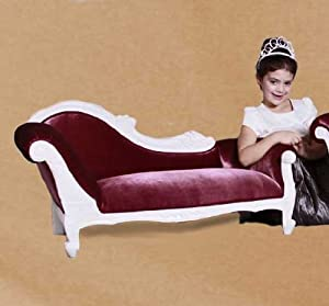Kids Victorian White With Pink Reproduction Chaise Lounge Solid Mahogny Princess Couch For The Love Of Your Life from JazTy