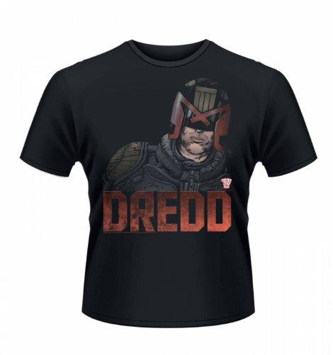 "Judge Dredd Head T-shirt - Official - Films,TV And Movie Geeky Tshirt - Black X-Large (46/48"")"