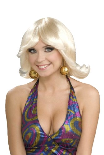 Forum Novelties Women's 70's Disco Fever Flip Style Blonde Wig