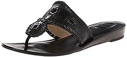 Jack Rogers Women\'s Capri Dress Sandal, Black, 9 M US