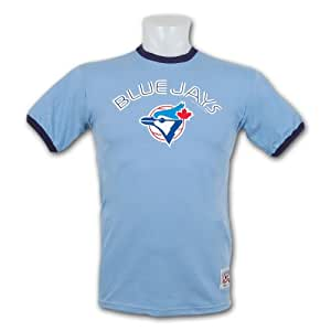 Toronto Blue Jays Cooperstown Team Color Ringer T-Shirt - Size XX-Large