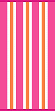 Cabana Basic Pink Stripe Beach Towel…