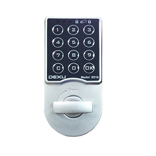 NATAMO Keypad Deadbolt with Built Alarm and Accent Lever,Zinc Alloy Electronic Coded Keyless Entry Door Lock for School Home and Office File Cabinet, Strong Box,Lockers,Wardrobe (Wifi Door Handle compare prices)