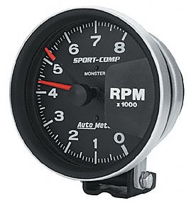 auto meter 3980 sport comp monster tachometer. Black Bedroom Furniture Sets. Home Design Ideas