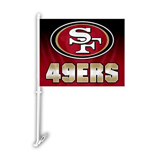49ers Car Flag, San Francisco 49ers Car Flag, 49ers Car Flags, San ...
